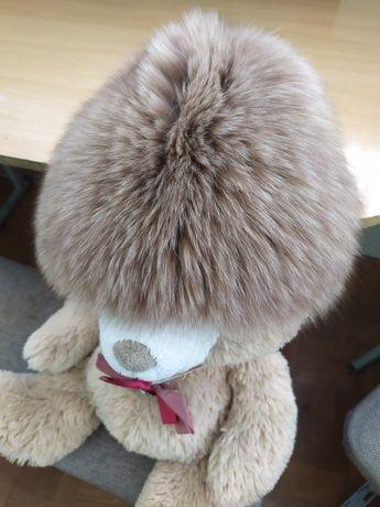 Зимняя тёплая меховая песцовая шапка песец