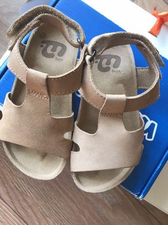 Skórzana sandałki dla chłopca, cena 50zl , cena z przesyłką