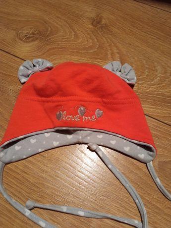 Wiązana czapeczka rozmiar 38 - na jesień