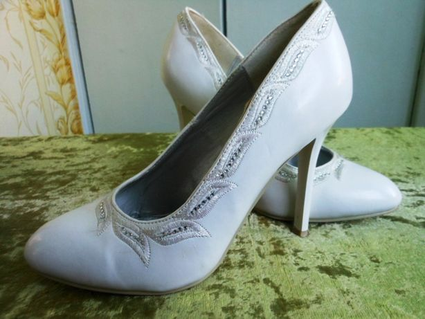 Свадебные туфли, кожа р.34