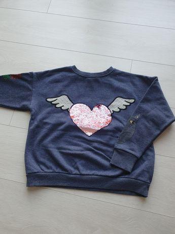 Bluza ZARA z cekinami 146