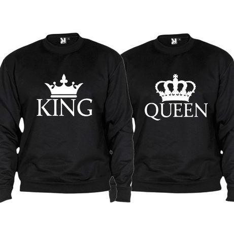 2 Sweatshirts Pretas King & Queen Flat - Oferta de Portes