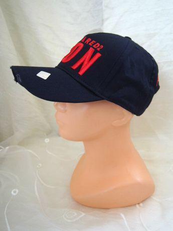 Granatowa czapka z daszkiem ICON bejsbolówka Dsquared2 truckerka