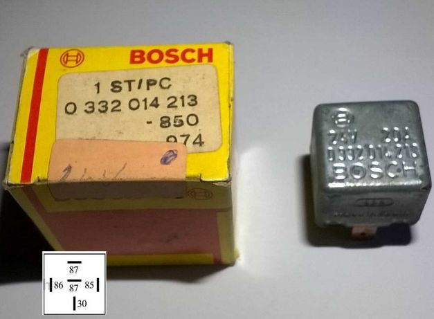 Relés Bosch e Sipea, 12v 24v 20A 30A Universal Normal Inversor