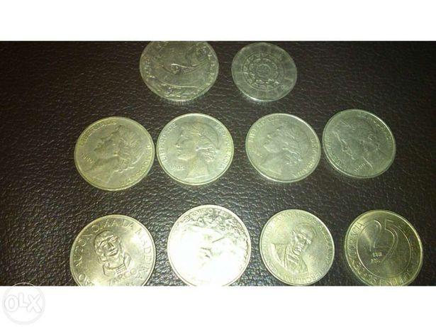 Moedas 20, 25 e 50 escudos