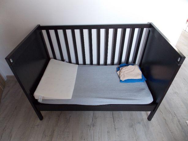 Łóżeczko dziecięce, drewniane Ikea Sundvik