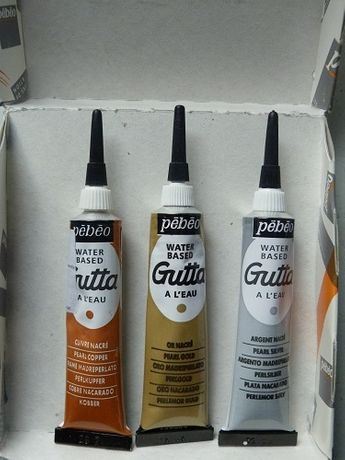 Gutta - konturówka do malowania na jedwabiu. Pebeo. 20 ml.