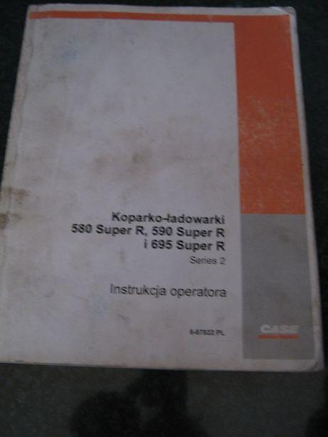 Książki dla operatorów koparko-ładowarki CASE 580,590,695 Super R itp
