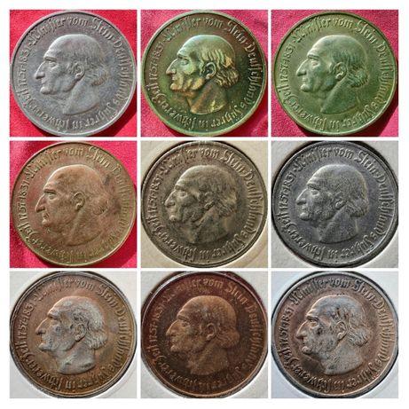 Zestaw 10 monet Westfalia 1921r - 1923r Stein, Anette