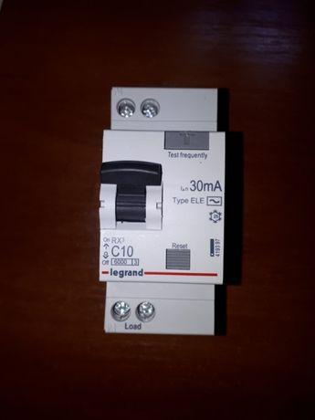 Диффавтомат legrand 1П+ С10 30mA