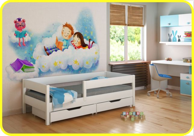 Детская кровать с бортиком 140x70 160x80 180х80 200x90 Польша!! -Ки