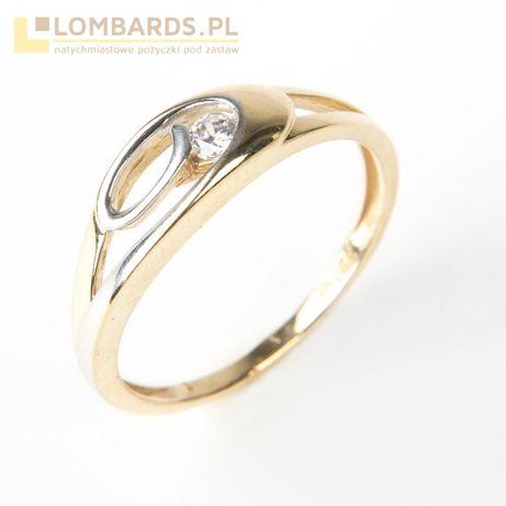 złoty pierścionek P. 750 rozmiar 15