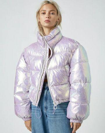 Куртка укороченная пуффер Pull&bear