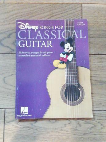 Nuty do klasycznej gitary z filmów Disneya.