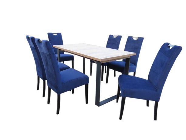 Nowoczesny stół i krzesła do salonu do jadalni