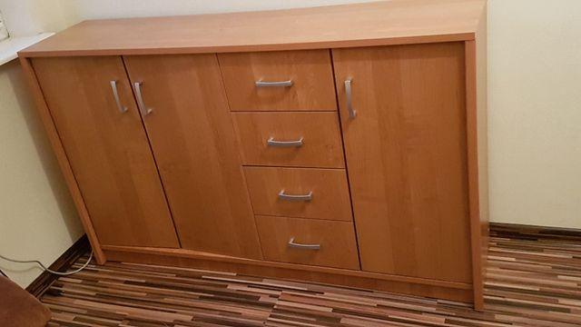 Szafka kredens komoda 3 drzwiowa 4 szuflady Gentofte Jysk olcha