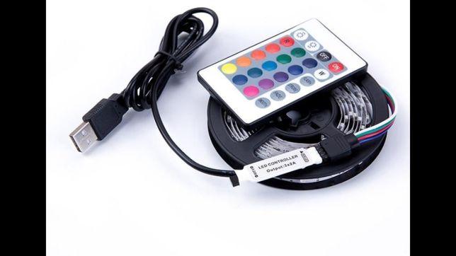 Taśma LED 5m USB listwa podświetlanie TV Nowa