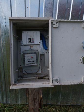 Licznik energi elektrycznej z szafką