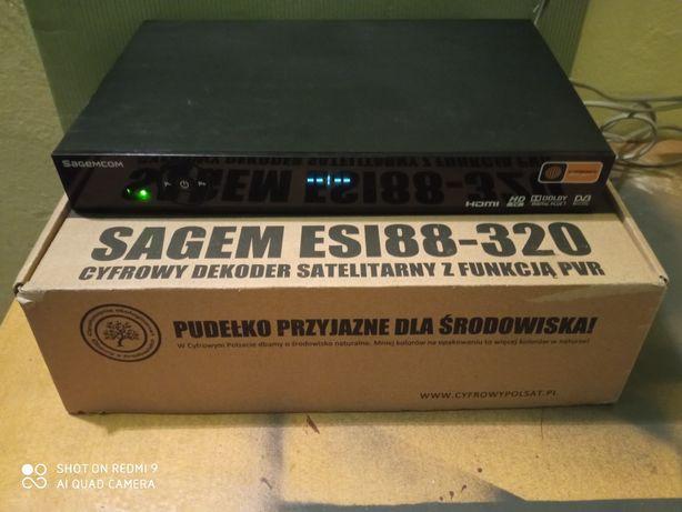 Dekoder Sagemcom Esi88 z odblokowanym dyskiem 320GB