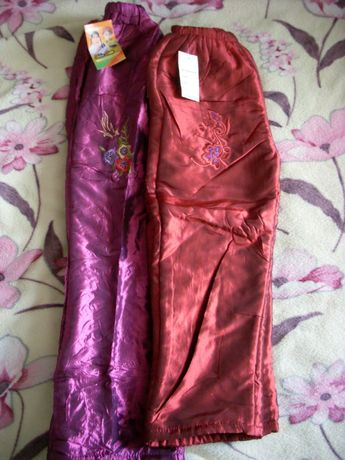 Теплые новые штанишки сиреневые 28-й р