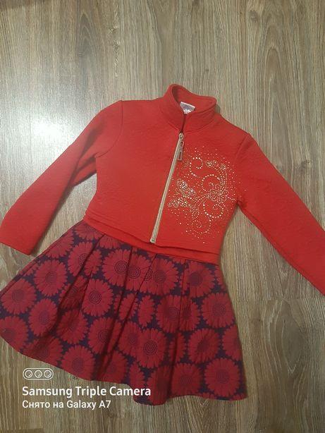 Нарядное платье с болеро, рост 110