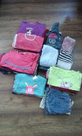 ubranka dla dziewczynki roz 74-80