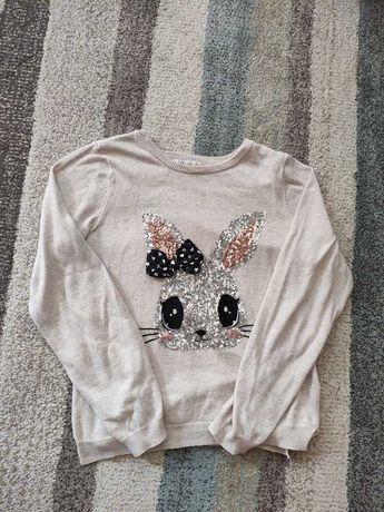 Lekka bluza z długim rękawem dla dziewczynki królik