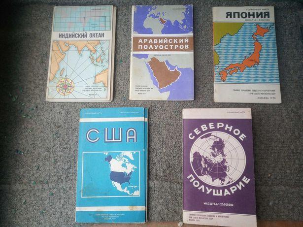 Коллекция карт из 10 шт., карты настенные