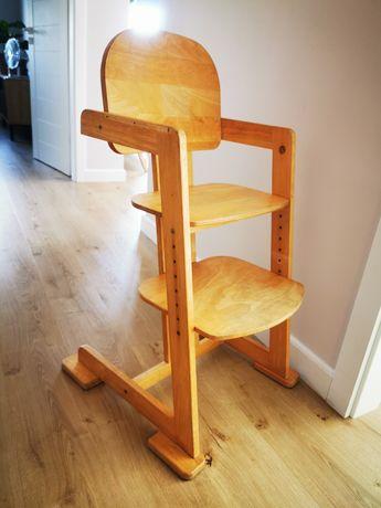 Krzesełko krzesło do karmienia lite drewno jak stokke