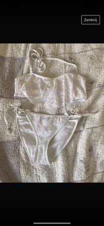 Bikini wiazane z koronka