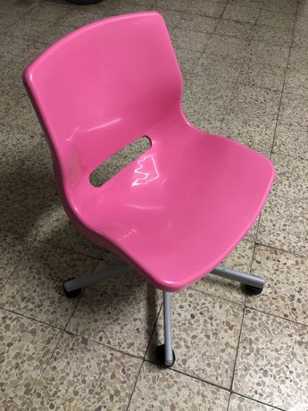 Cadeira secretária ikea rosa