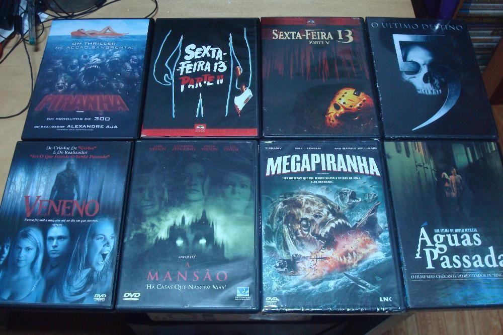 lote 14 filmes originais terror,scanners ,megapiranha etc