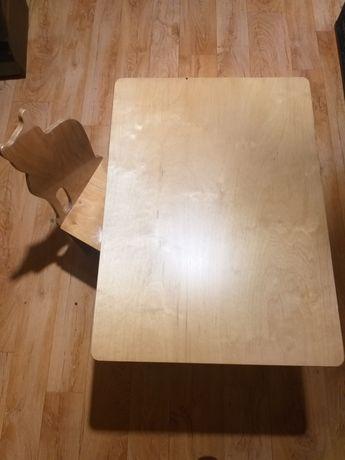 Stolik i krzesełko drewniane