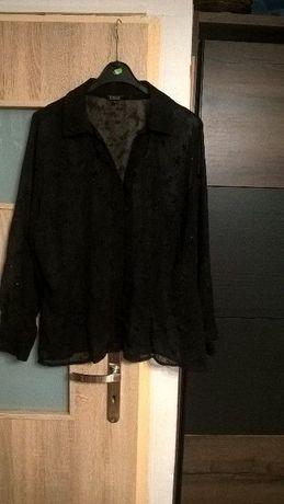 bluzka mgiełka,koszula czarna r 46