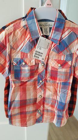 Koszule z krótkim rekawem dla chlopca roz.104