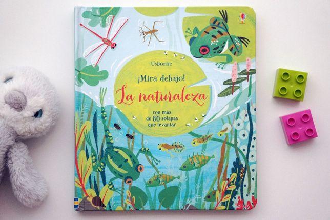 """""""Mira debajo la naturaleza"""" hiszpańska książka Usborne"""