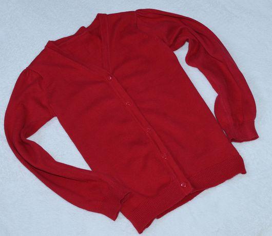 Nutmeg sweter czerwony serca r.134