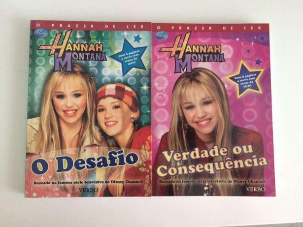 Livros 2 e 4 da coleção Hannah Montana