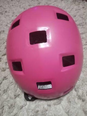 Kask rowerowy, dziewczynka, róż, oxelo, 52-54 cm, pink