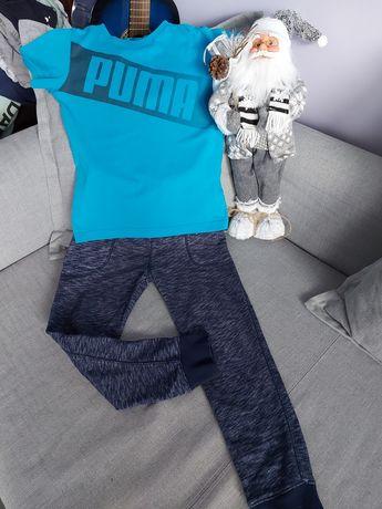 Zestaw spodnie dresowe h& m+ koszulka puma