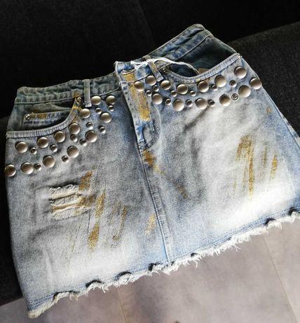 Mini jeansowa