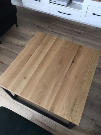 Stolik kawowy prawdziwe drewno i stal