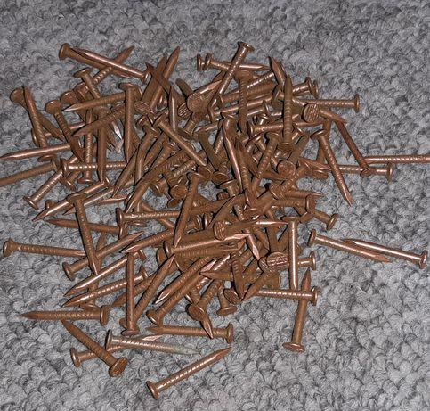 Gwioździe miedziane fi. 3mm /30mm = 50 PLN kg. papcioki