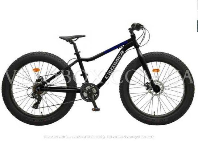 "Велосипед Crosser Fat Bike 24"" 26"" фэтбайк Shimano фэт байк"
