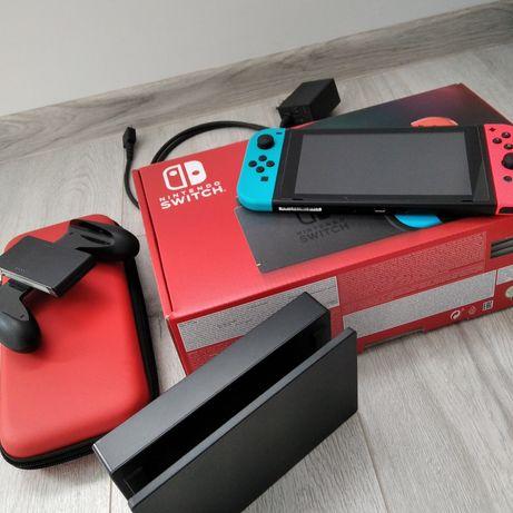 Sprzedam Nintendo switch neon konsola stan bdb gwarancja gra gratis