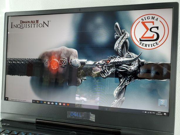 Мощный игровой ноутбук DELL G7//CORE I7-8750H//GTX1050TI Магазин SIGMA
