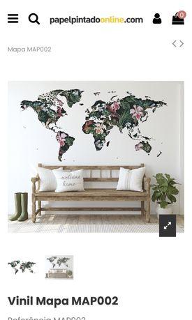 Papel parede - vinil mapa mundo