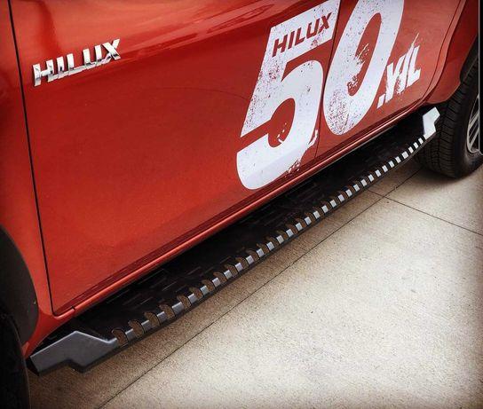 Progi stopnie orurowanie boczne Ford Ranger Nissan Navara Toyota Hilux