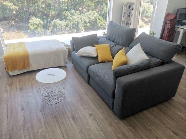 Sofa ikea 3 lugares com chaise long