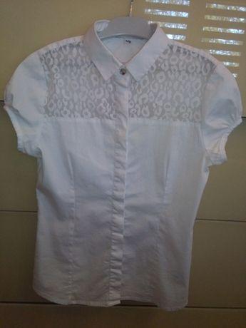 Wizytowa galowa biała bluzka Miss Reporter 146
